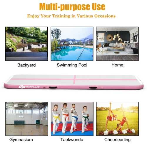 15FT Air Track Inflatable Gymnastics Tumbling Mat -Pink