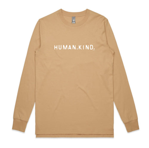 UNISEX LONG SLEEVE TEE... HUMAN.KIND.