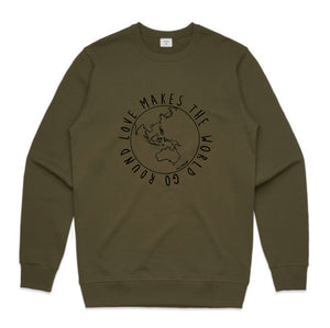 UNISEX JUMPER... LOVE MAKES THE WORLD GO ROUND