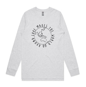 UNISEX LONG SLEEVE TEE... LOVE MAKES THE WORLD GO ROUND