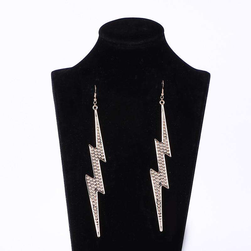 Dramatic Drop Lightning Bolt Earrings SUZYWAN DELUXE Gold