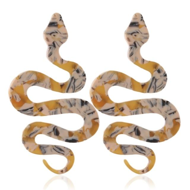 Ritual Revenge Snake Earrings SUZYWAN DELUXE orange