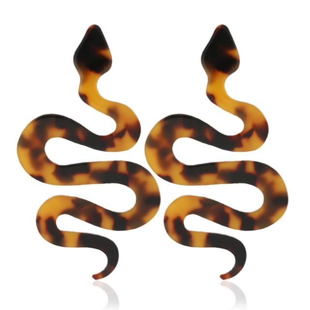 Ritual Revenge Snake Earrings SUZYWAN DELUXE coffee