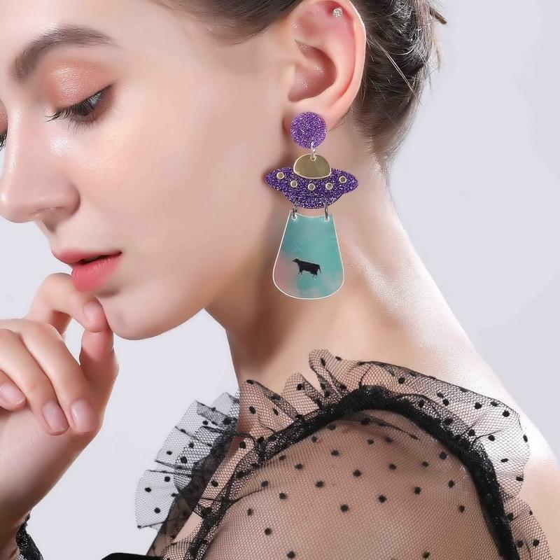 Space Girl Earring SUZYWAN DELUXE