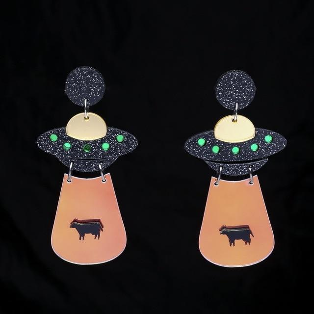 Space Girl Earring SUZYWAN DELUXE Black