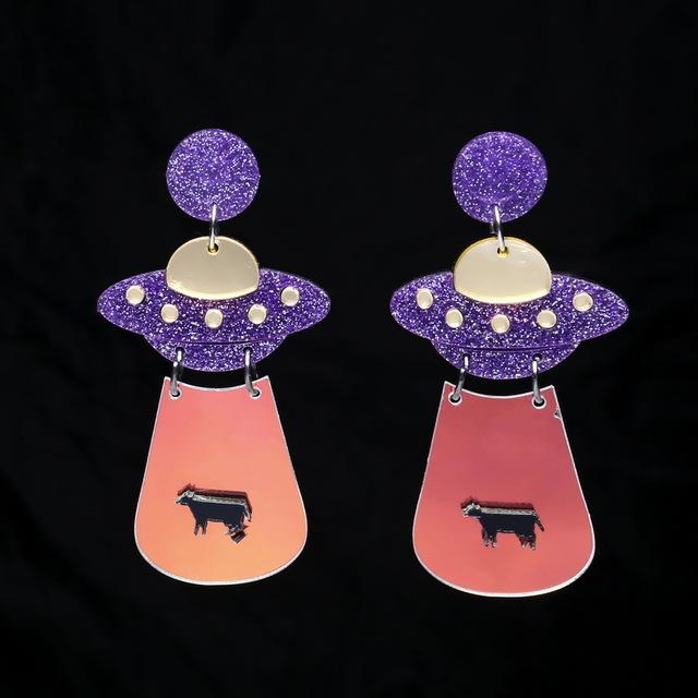Space Girl Earring SUZYWAN DELUXE Purple