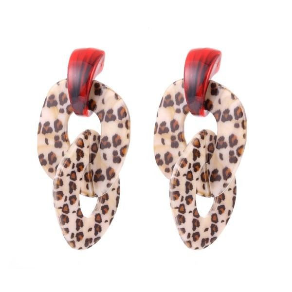 Bohemian Leopard Earrings SUZYWAN DELUXE Color F as photo