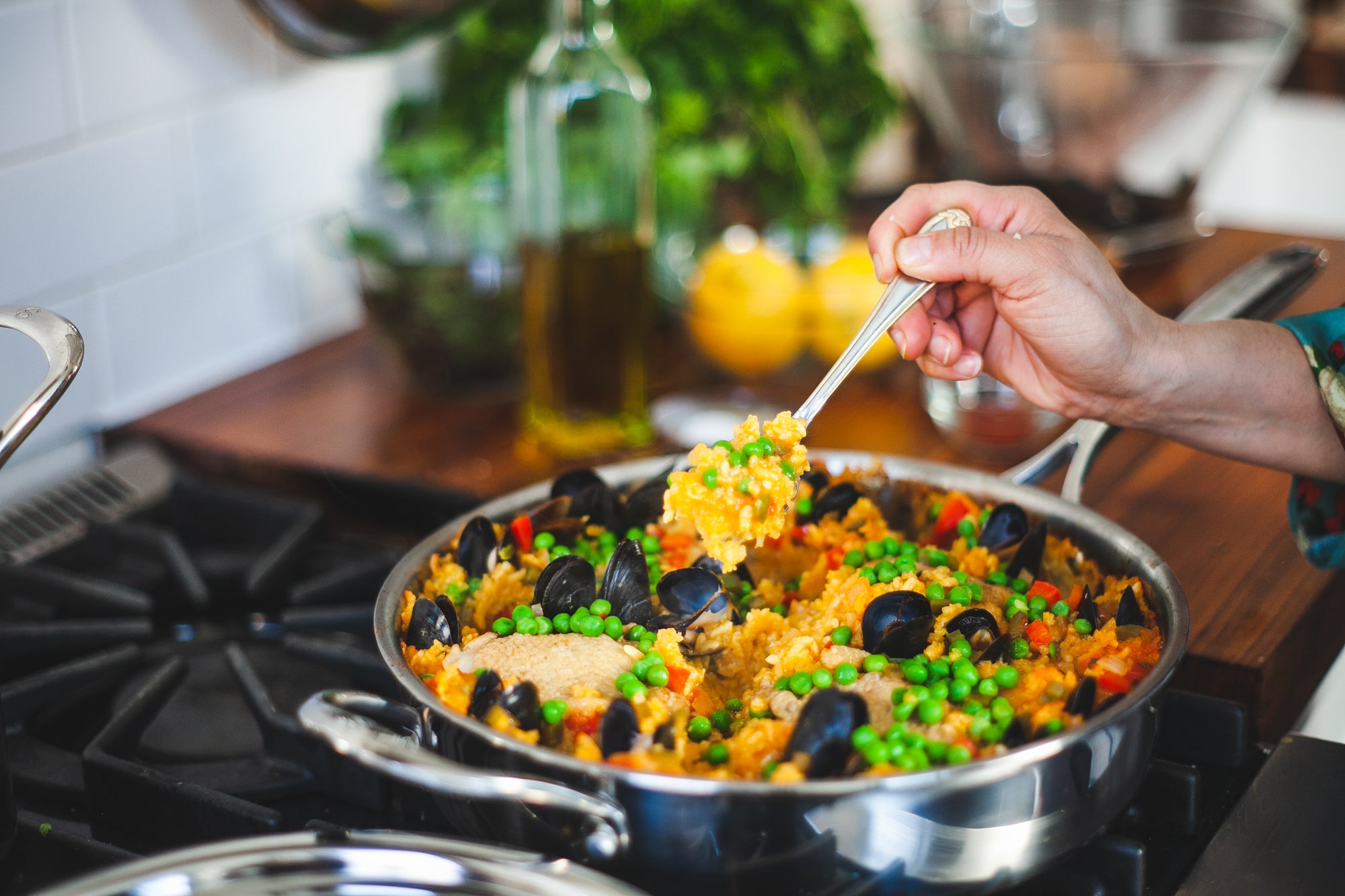 Seafood Paella With Socarrat