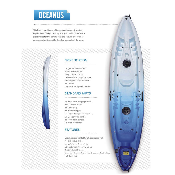 Cool Kayak OCEANUS 2 + 1