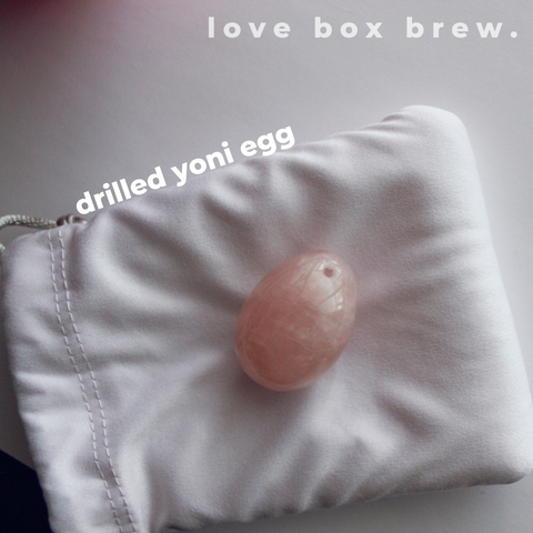 Drilled yoni egg