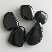 Load image into Gallery viewer, Shungite Tumbled Natural Stone, Medium-Sized