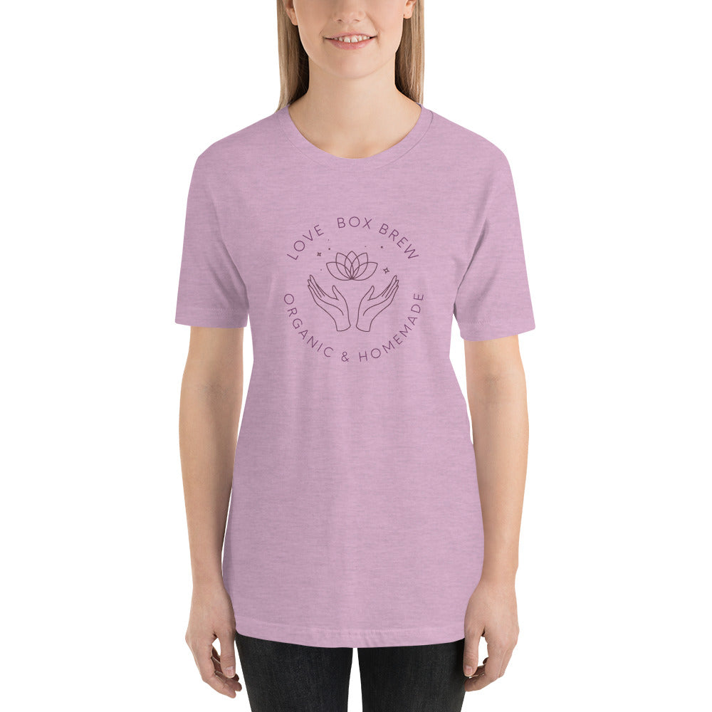 Love Box Brew Signature Purple Logo Short-Sleeve Unisex T-Shirt