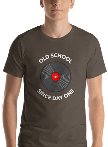 "Men's Premium T-Shirt – ""Old School Since Day One"""