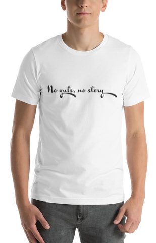 "Men's Premium T-Shirt – ""No Guts, No Story"""