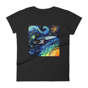 Woman's Premium T-Shirt – Enterprise Van Gogh Style