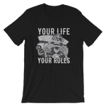 "Men's Premium T-Shirt – ""Your Life Your Rules"" - Shirtbadass"