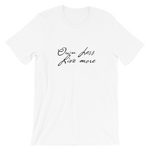 "Men's Premium T-Shirt – ""Own less, Less, Live more"" - Shirtbadass"
