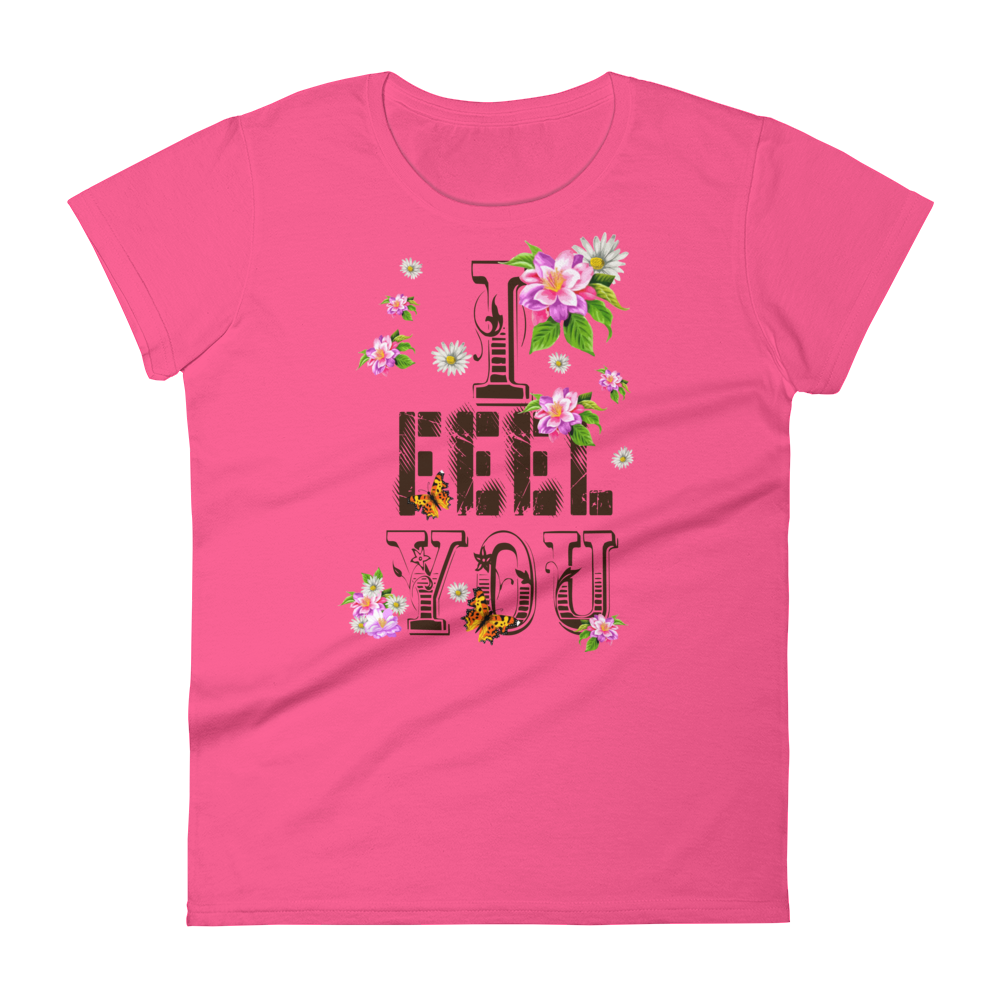 "Woman's Premium T-Shirt – ""I Feel You"" - Shirtbadass"