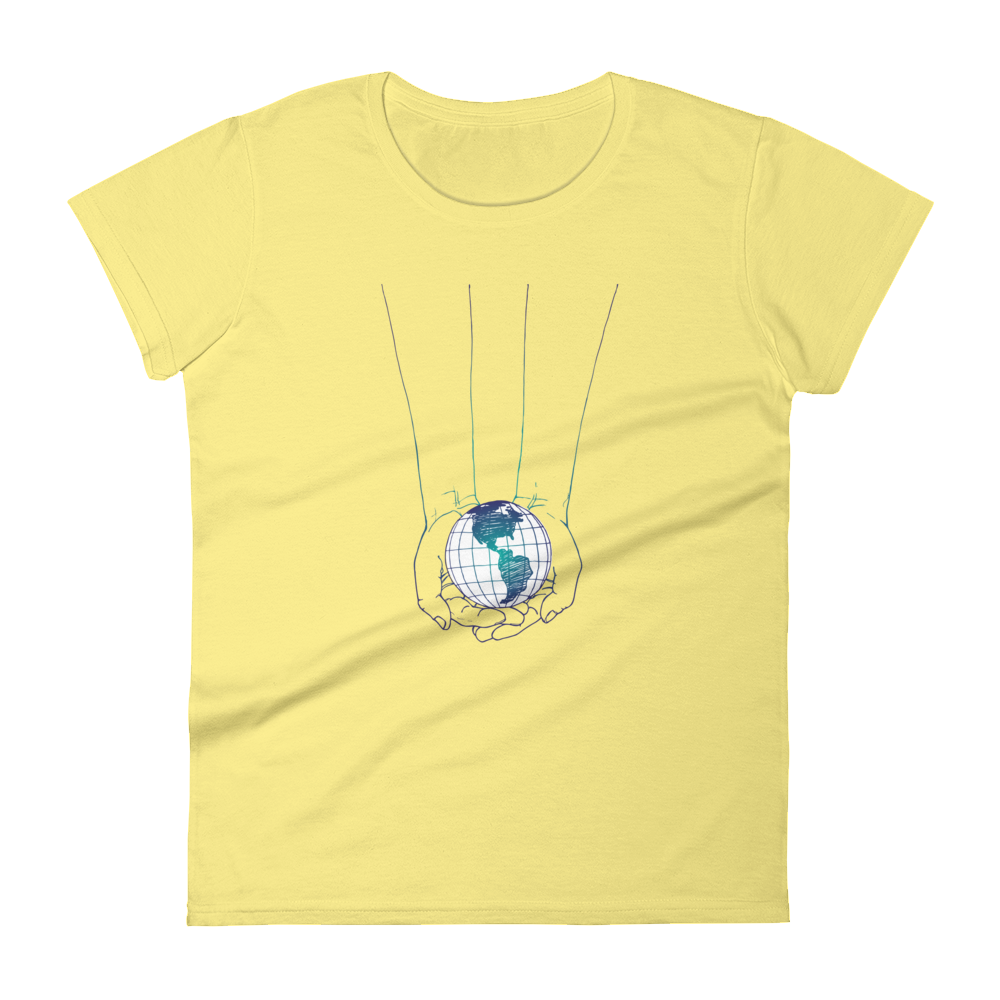 Woman's Premium T-Shirt – World In Your Hands - Shirtbadass
