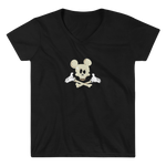 Women's Casual V-Neck Shirt – Dead Mouse - Shirtbadass