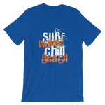 "Men's Premium T-Shirt – ""Surf, Chill, Beach"" - Shirtbadass"