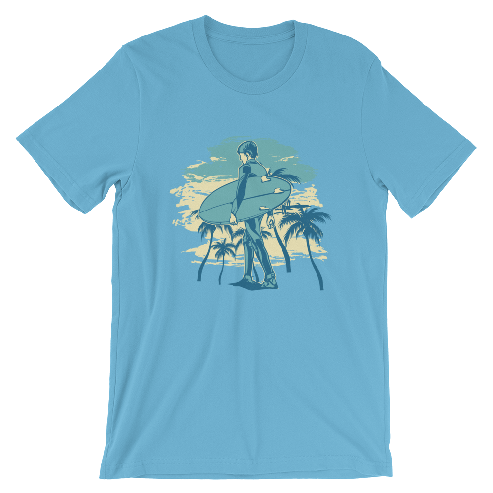 Men's Premium T-Shirt – Surfer At The Beach - Shirtbadass