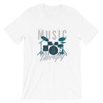 "Men's Premium T-Shirt – ""Music Is My Therapie"" - Shirtbadass"