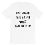 "Men's Premium T-Shirt – ""Try Again, Fail Again, Fail Better"" - Shirtbadass"