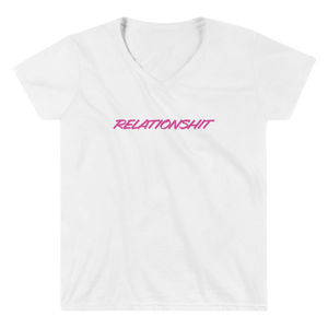 "Women's Casual V-Neck Shirt – ""Relationshit"""