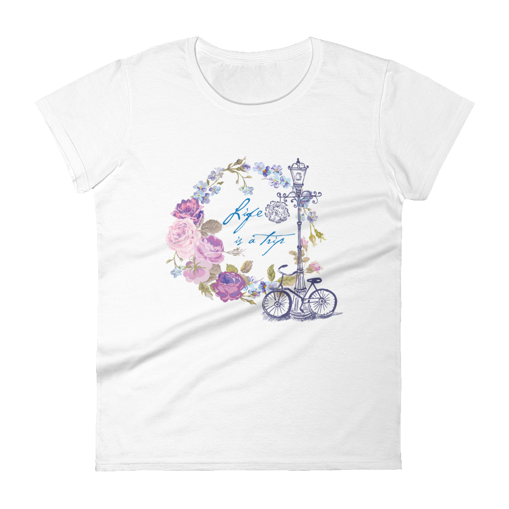 "Woman's Premium T-Shirt – ""Life Is A Trip"" - Shirtbadass"