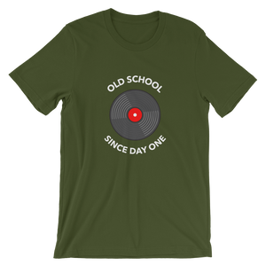 "Men's Premium T-Shirt – ""Old School Since Day One"" - Shirtbadass"