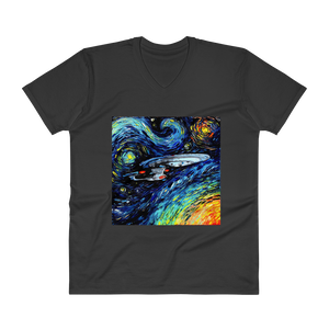 Men's Casual V-Neck T-Shirt – Enterprise Van Gogh Style