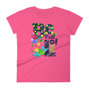 "Woman's Premium T-Shirt – ""Be Full Of Love"" - Shirtbadass"