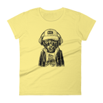 Woman's Premium T-Shirt – Brooklyn Badass-Cat - Yellow