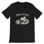 "Men's Premium T-Shirt – ""Born To Ride"" - Shirtbadass"