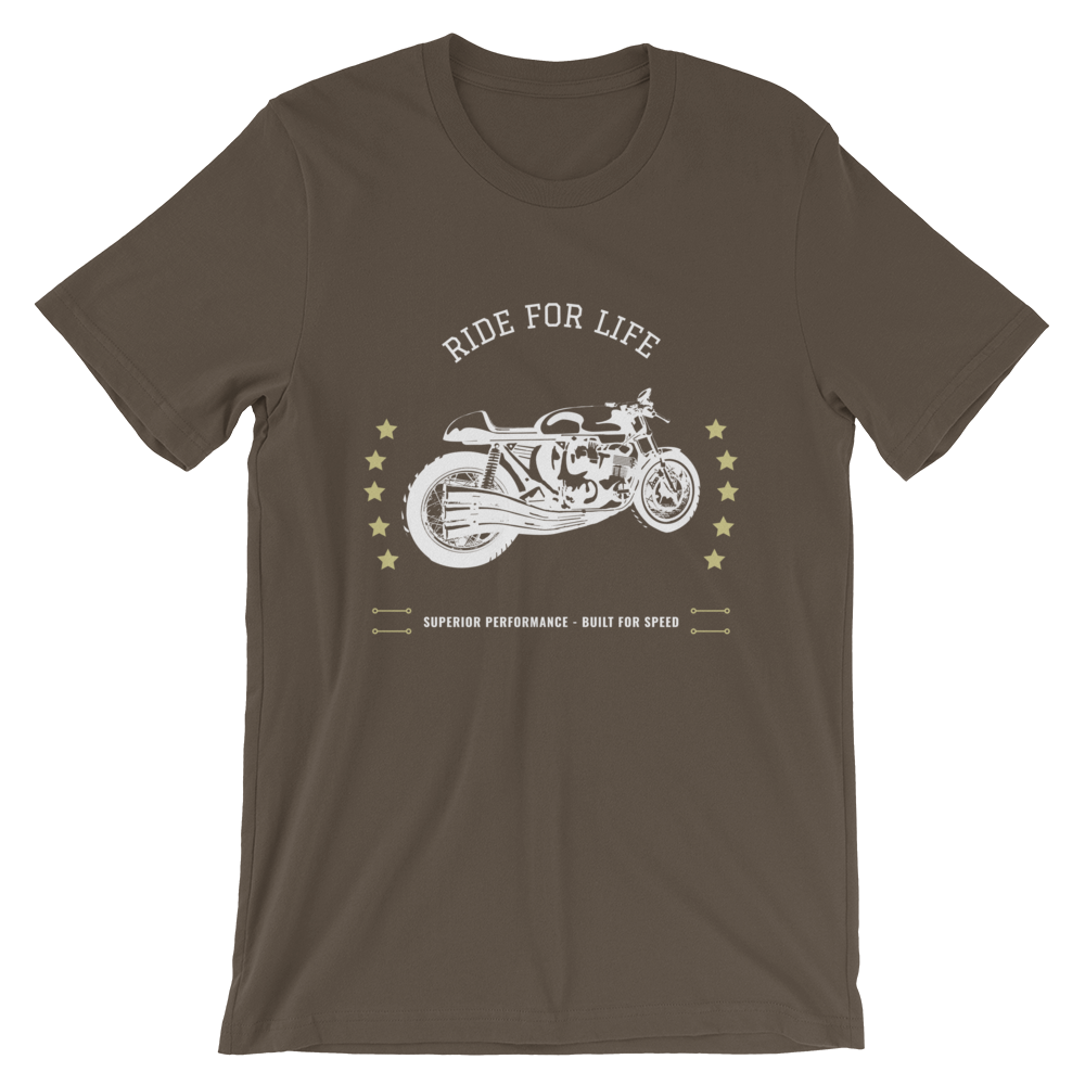 "Men's Premium T-Shirt – ""Ride For Life"" - Shirtbadass"