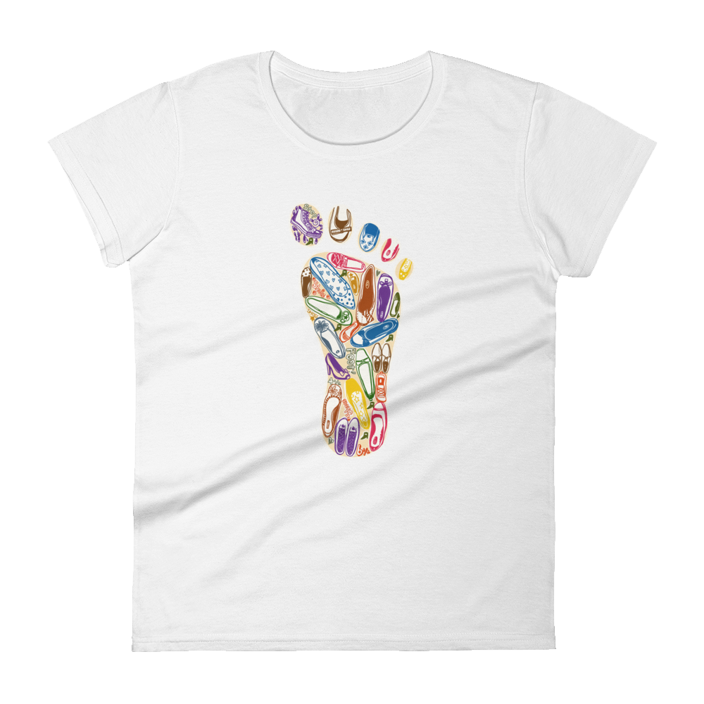 Woman's Premium T-Shirt  – Footprint - Shirtbadass