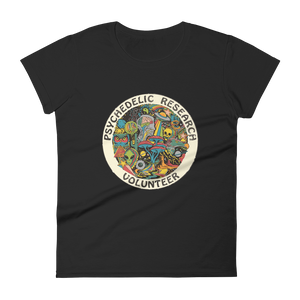 "Woman's Premium T-Shirt – ""Psychedelic Research Volunteer"""