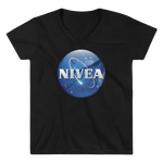 Women's Casual V-Neck Shirt- NIVEA