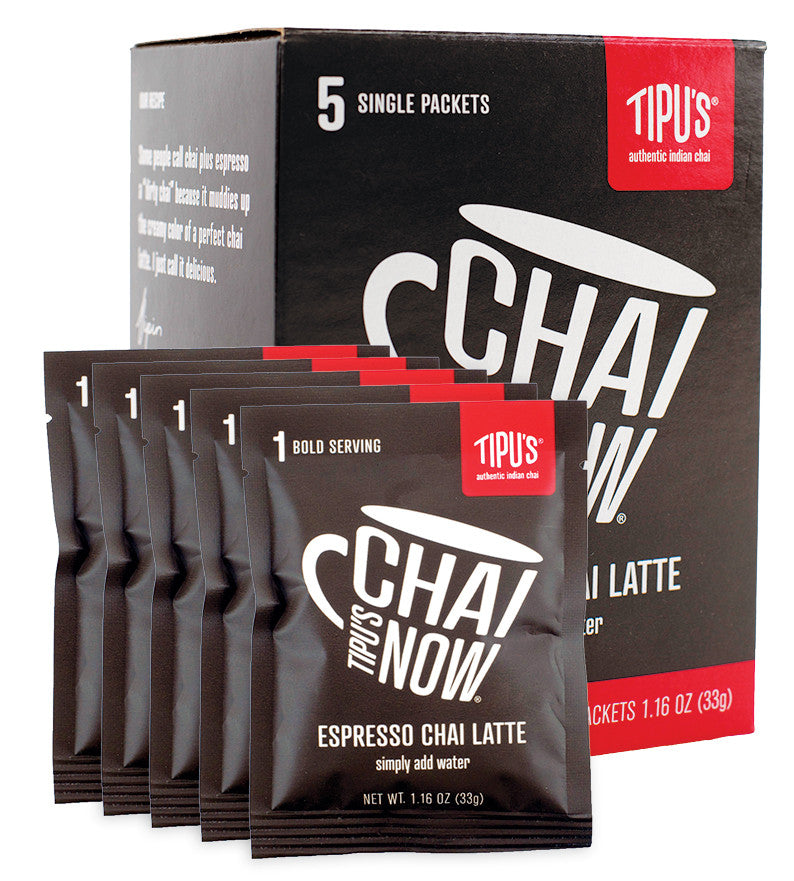 Tipu's Chai Now® Single Serve Dirty Chai Latte