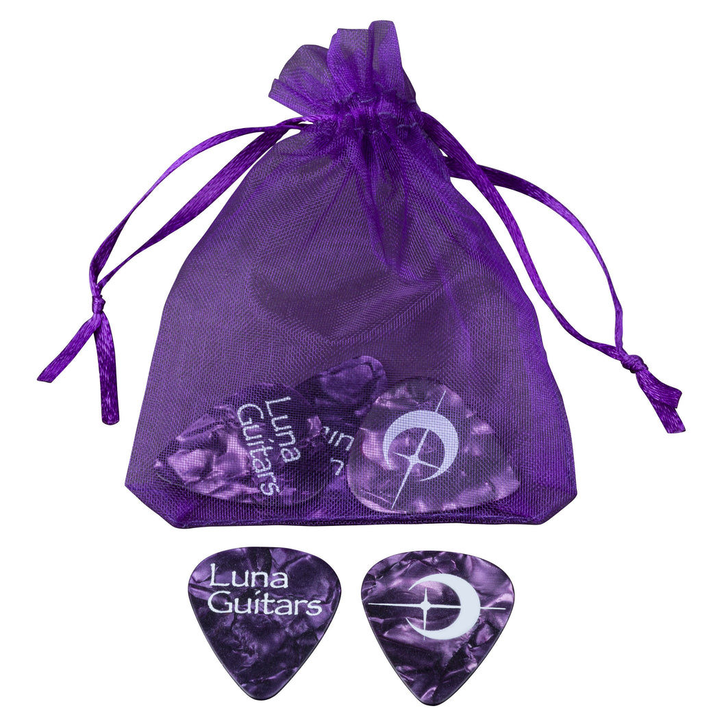 Luna Pick Medium Purple Pearloid 6 Pack