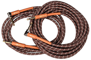 Luna Instrument Cable 25ft 90 Angle to Straight