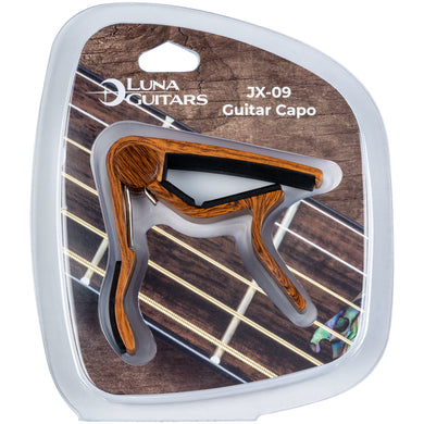Luna Guitar Capo Wood Finish