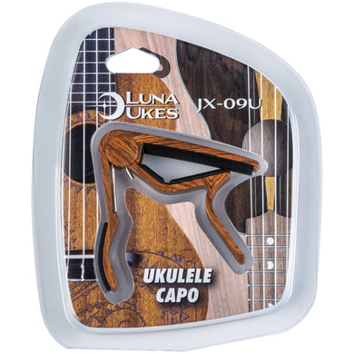 Luna Capo for Ukuleles JX-09U Wood Finish