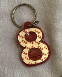 Kappa Alpha Psi Numbered Key Chains