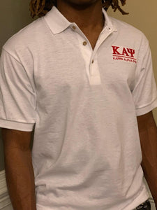 White Kappa Polo