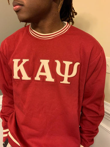 Kappa Crewneck Sweatshirt Cream on Crimson