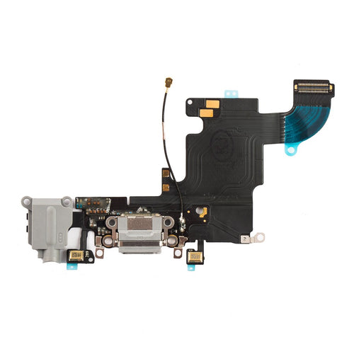Charging Port & Headphone Jack Flex Cable White for iPhone 6S