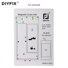 Load image into Gallery viewer, DIYFIX 1PC Magnetic Screw Mat for iPhone 4 4S 5 5S 6S 6S Plus Guide Screw Pad Keeper Chart Mat Mobile Phone Repair Tools