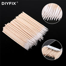 Load image into Gallery viewer, DIYFIX 100PCS/Lot Singal Head Cotton Swab Cleaning Tools For Samsung iPhone Huawei Phone Charging Port Headphone Repair Tool